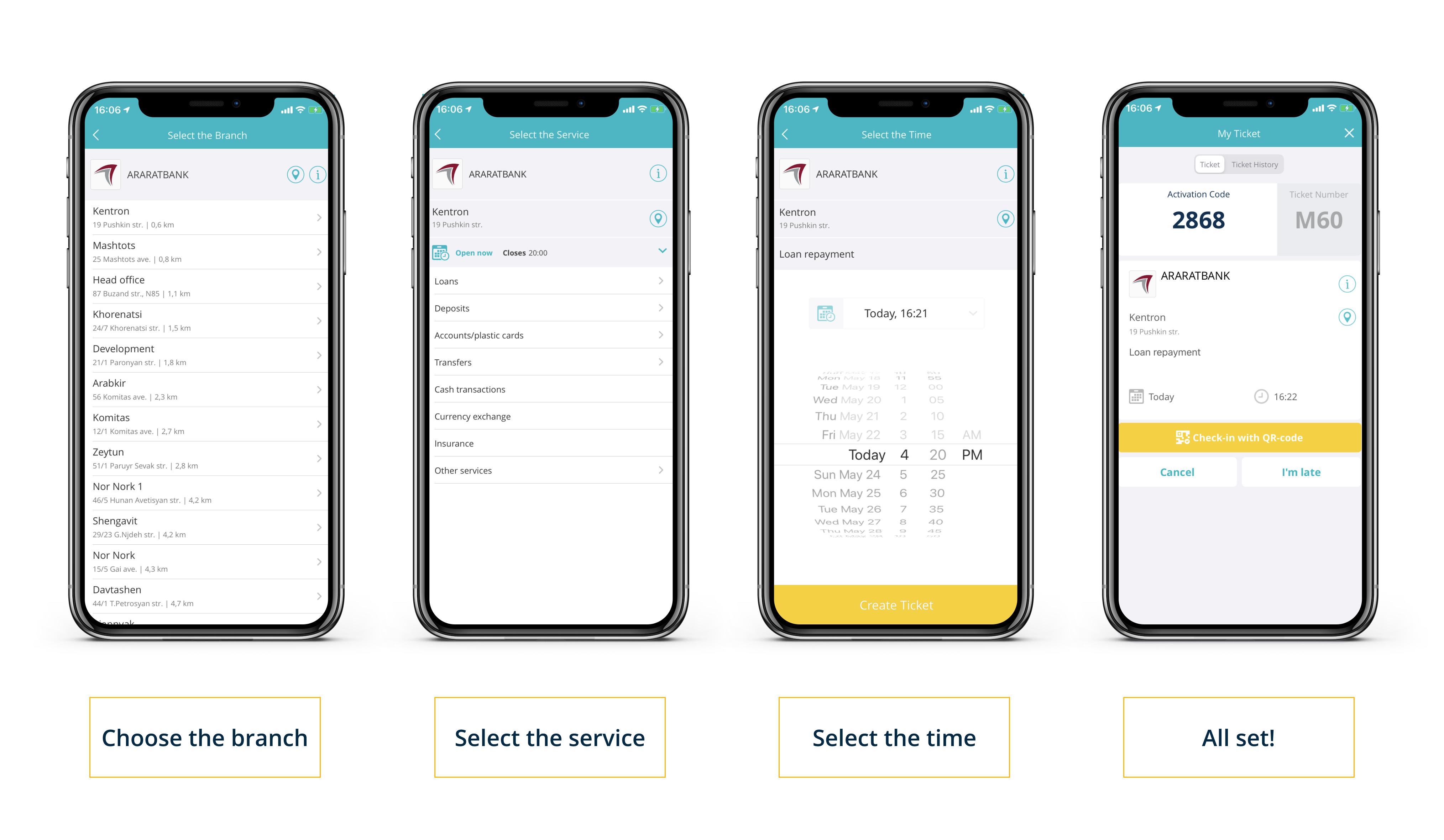 Araratbank in the app