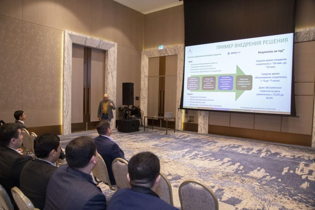 Tigran Jrbashyan and Gevorg Safaryan presenting